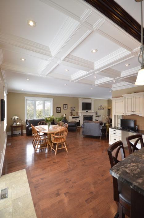 Custom House Ceilings and Living room
